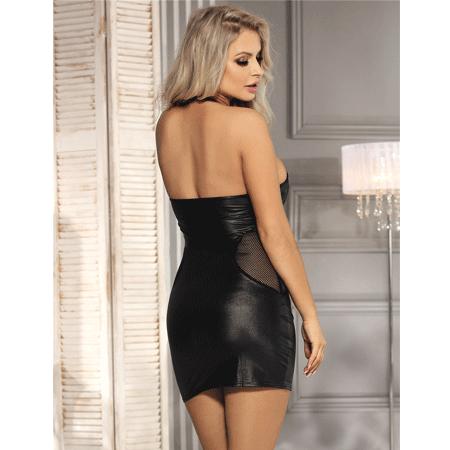 black leather dress 2 3