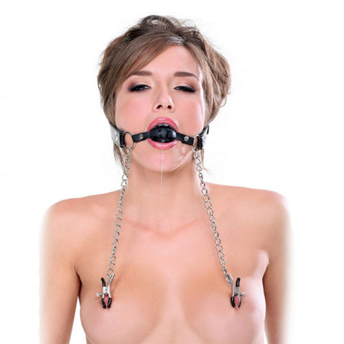fetish fantasy extreme nipple clamps and gag 3