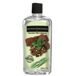 intimate organics chocolate mint lubricant 3