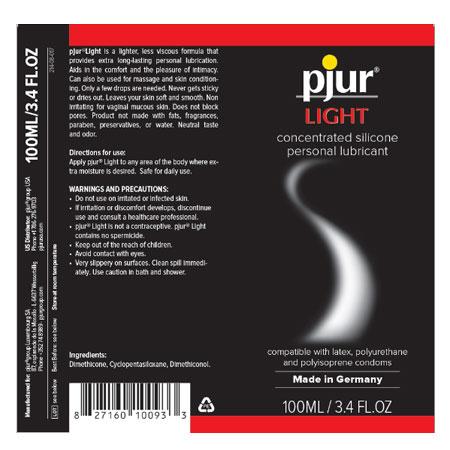 pjur light love silicone based lubricant 2 2