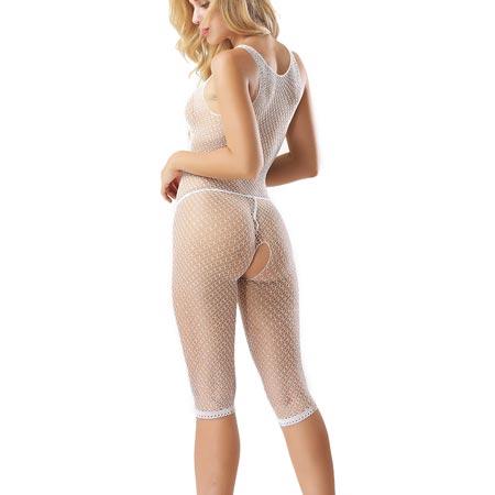 short bodystocking white 2 3