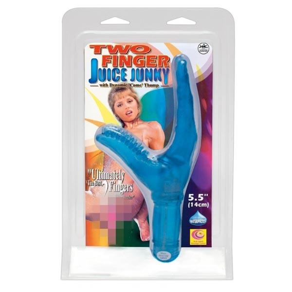 two finger juice junky vibrator packaging